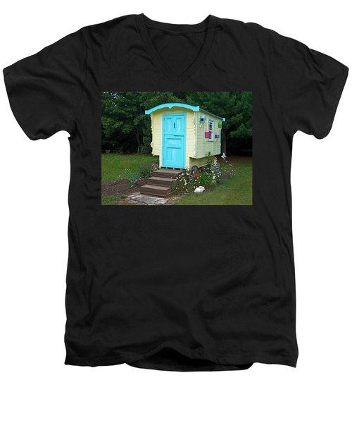 Little Gypsy Wagon II Men's V-Neck T-Shirt by Judy Johnson
