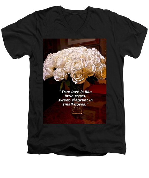 Little Love Roses Men's V-Neck T-Shirt