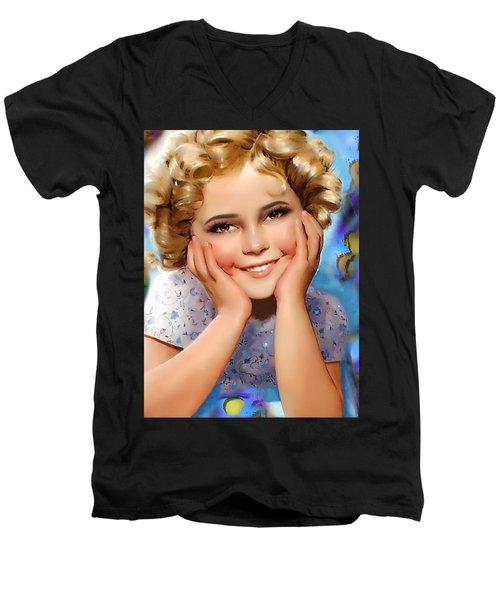 Little Miss Shirley Men's V-Neck T-Shirt