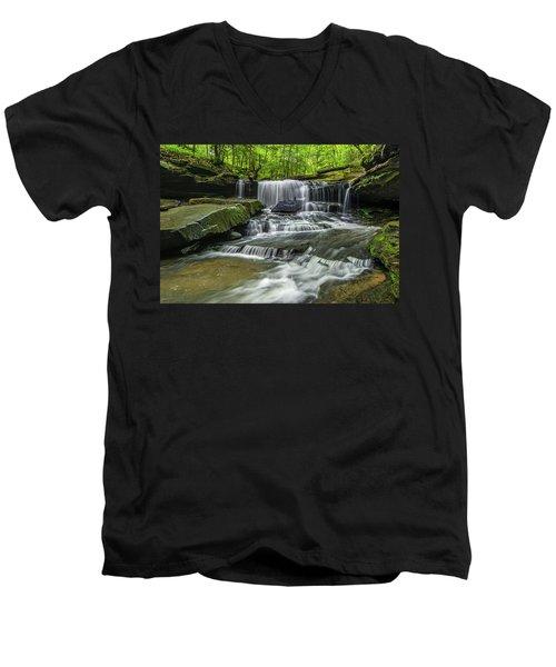 Little Mudlick Falls Men's V-Neck T-Shirt