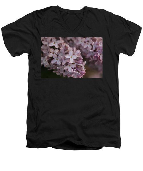 Men's V-Neck T-Shirt featuring the photograph Little Pink Stars by Christin Brodie