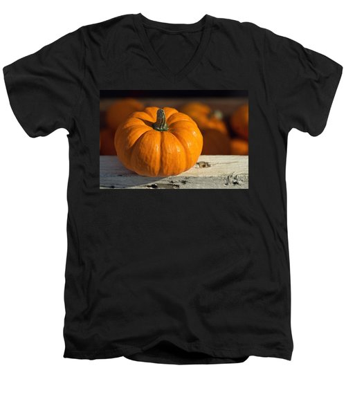 Little Pumpkin Men's V-Neck T-Shirt by Joseph Skompski