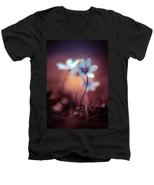 Liverworts Men's V-Neck T-Shirt by Jaroslaw Blaminsky