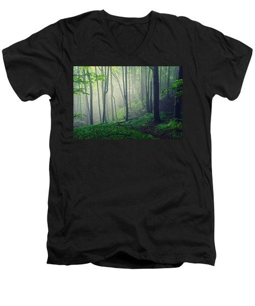 Living Forest Men's V-Neck T-Shirt