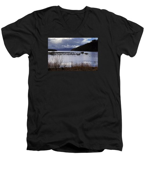 Men's V-Neck T-Shirt featuring the photograph Loch Lomond by Jeremy Lavender Photography