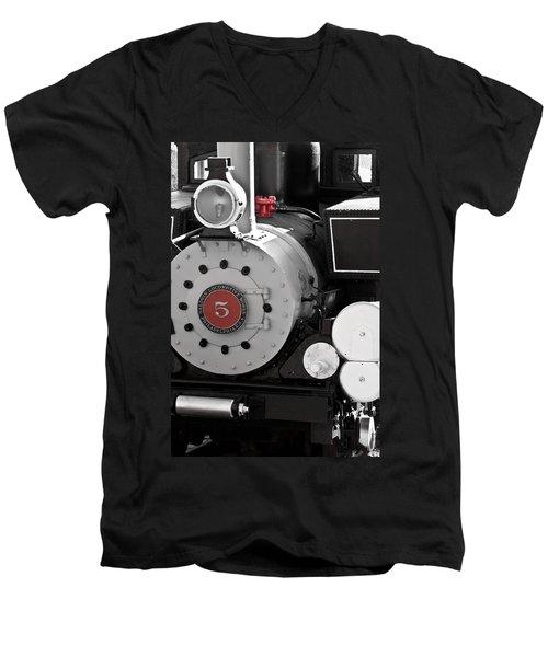Locomotive Number Five Men's V-Neck T-Shirt