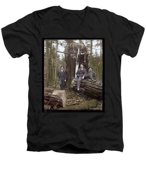 Loggers Sunday Best 1911 Men's V-Neck T-Shirt