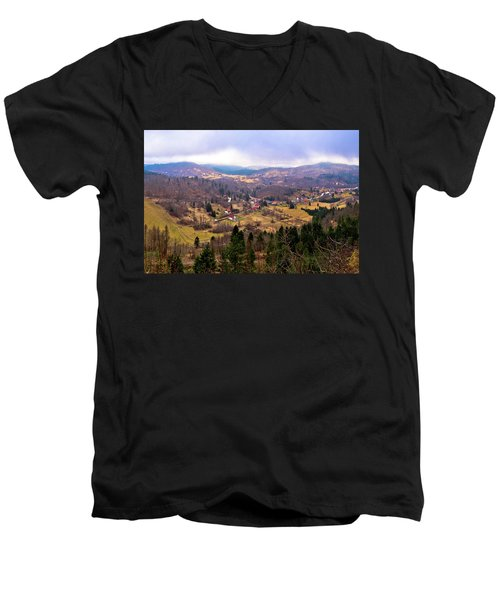 Lokve Valley In Gorski Kotar View Men's V-Neck T-Shirt