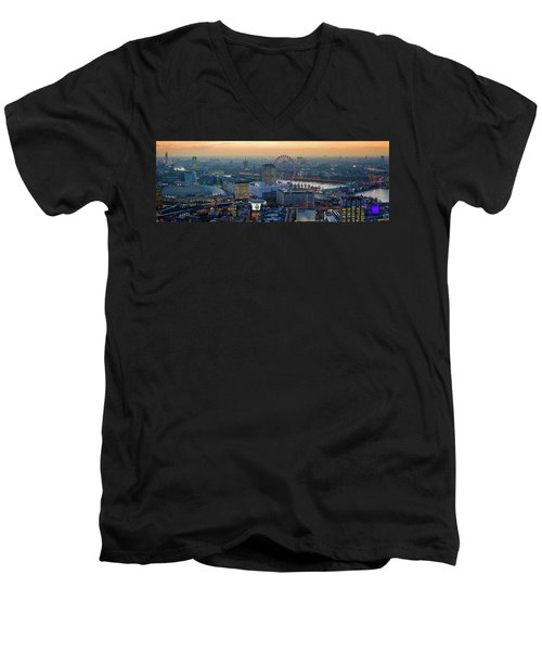 London At Sunset Men's V-Neck T-Shirt