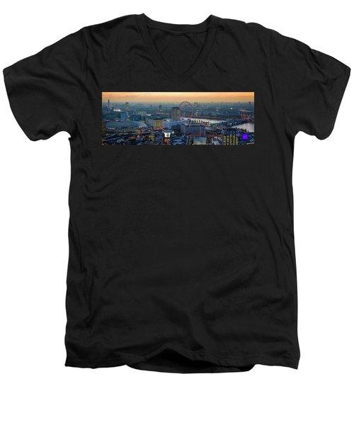 London At Sunset Men's V-Neck T-Shirt