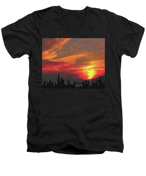 Sunset London Men's V-Neck T-Shirt
