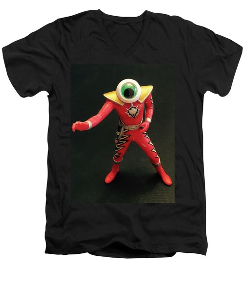 Lone Eye Ranger Men's V-Neck T-Shirt by Douglas Fromm