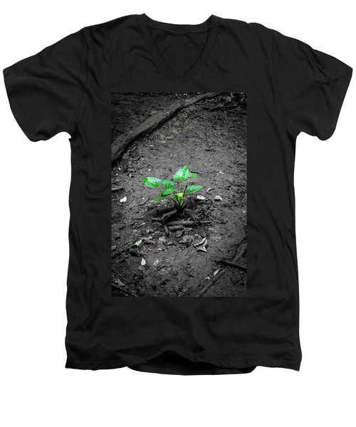 Lonely Plant Men's V-Neck T-Shirt