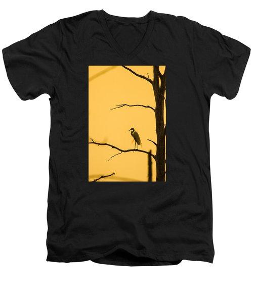 Lonely Silhouette Men's V-Neck T-Shirt