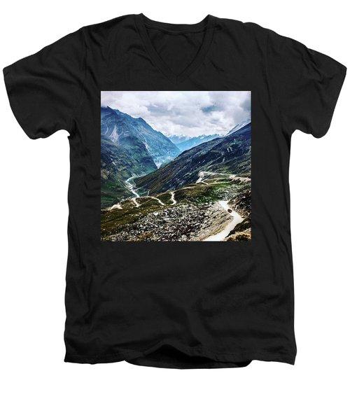 Long And Winding Roads Men's V-Neck T-Shirt