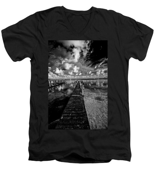 Long Dock Men's V-Neck T-Shirt by Kevin Cable