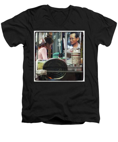Men's V-Neck T-Shirt featuring the photograph Long Live The King. Even After His by Mr Photojimsf