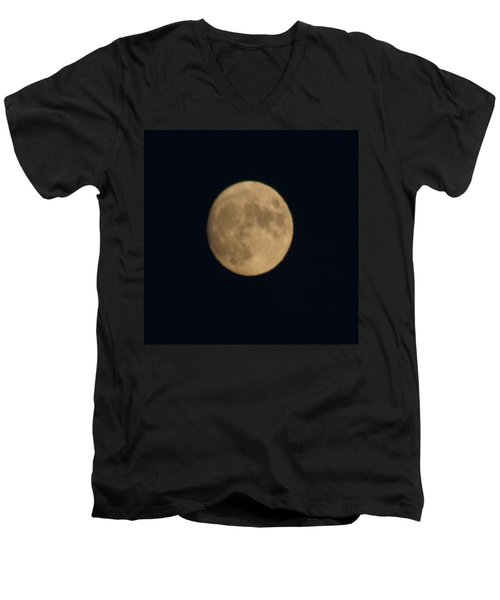 Men's V-Neck T-Shirt featuring the digital art Longest Flying Balloon Ever by Gary Baird