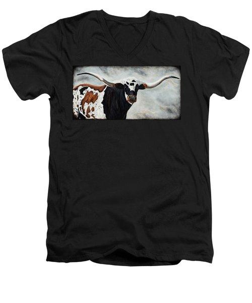 Longhorn Men's V-Neck T-Shirt