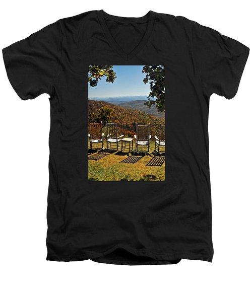 Relax And Enjoy Men's V-Neck T-Shirt by Kay Lovingood