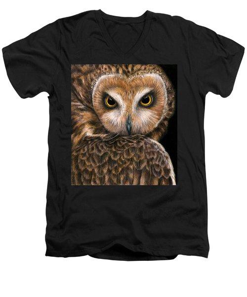 Look Into My Eyes Men's V-Neck T-Shirt by Pat Erickson