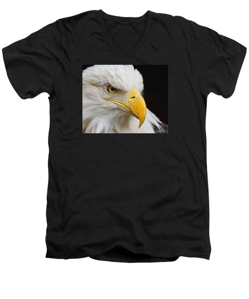 Look Of The Eagle Men's V-Neck T-Shirt by Ernie Echols