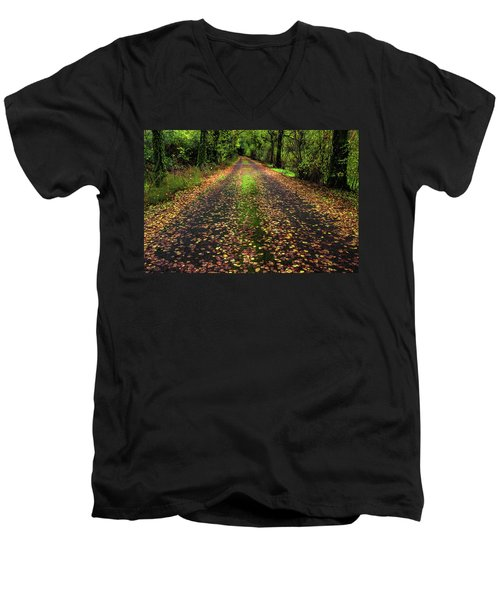 Looking Down The Lane Men's V-Neck T-Shirt