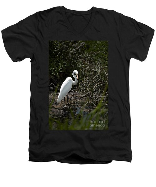 Men's V-Neck T-Shirt featuring the photograph Looking For Lunch by Tamyra Ayles