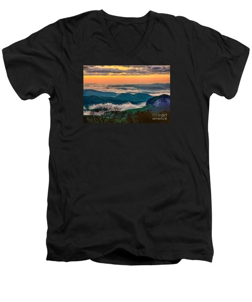 Looking Glass In The Blue Ridge At Sunrise Men's V-Neck T-Shirt