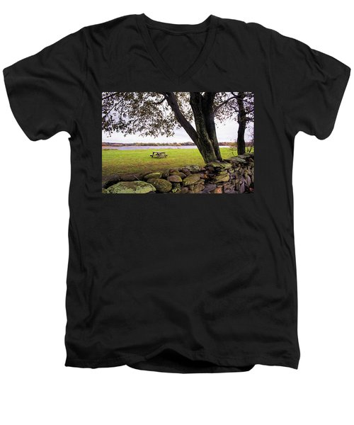 Looking Over The Wall Men's V-Neck T-Shirt