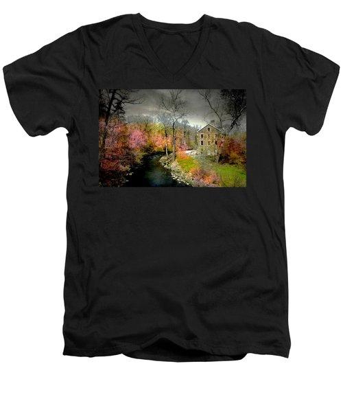 Lorillard Mill Men's V-Neck T-Shirt