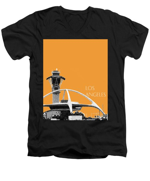 Los Angeles Skyline Lax Spider - Orange Men's V-Neck T-Shirt