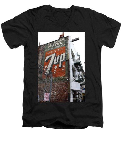 Lost In Urban America - El Rosa Hotel - Tenderloin District - San Francisco California - 5d19351 Men's V-Neck T-Shirt