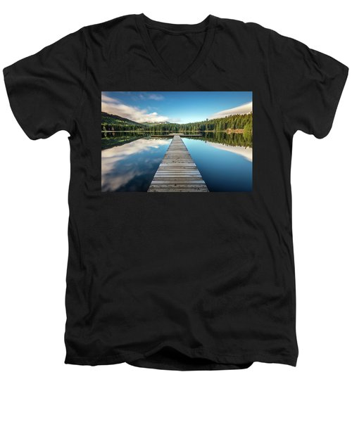 Lost Lake Dream Whistler Men's V-Neck T-Shirt by Pierre Leclerc Photography