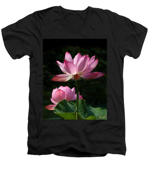 Lotus Beauties--upstaged Dl048 Men's V-Neck T-Shirt
