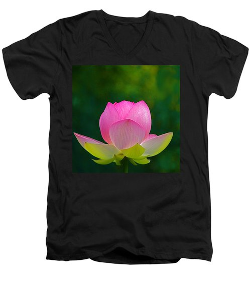 Men's V-Neck T-Shirt featuring the photograph Lotus Blossom 842010 by Byron Varvarigos