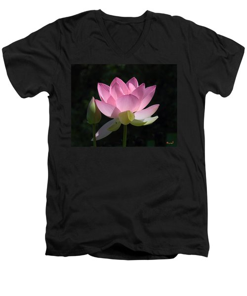 Lotus Bud--snuggle Bud Dl005 Men's V-Neck T-Shirt