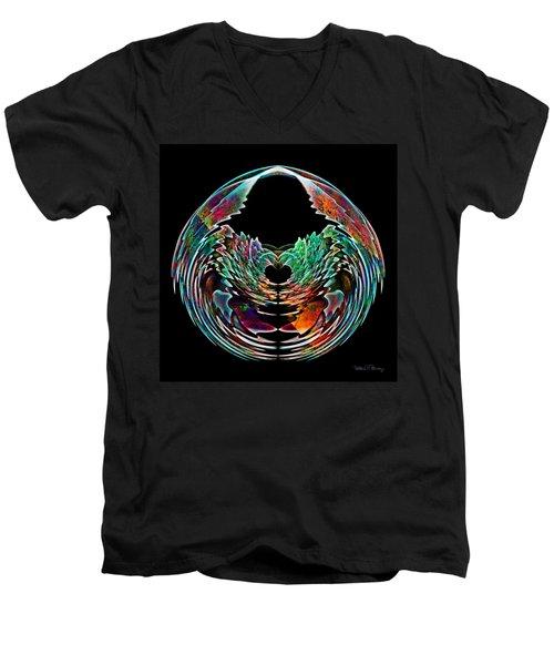 Lotus In A Bowl Men's V-Neck T-Shirt