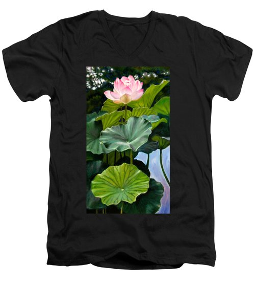 Lotus Rising Men's V-Neck T-Shirt