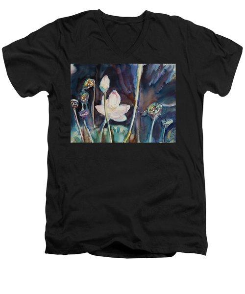 Lotus Study II Men's V-Neck T-Shirt