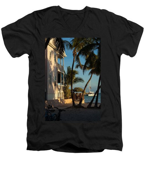 Louie's Backyard Men's V-Neck T-Shirt