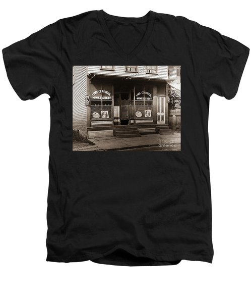 Louis Czarniecki Miners Rest 209 George Ave Parsons Pennsylvania Men's V-Neck T-Shirt