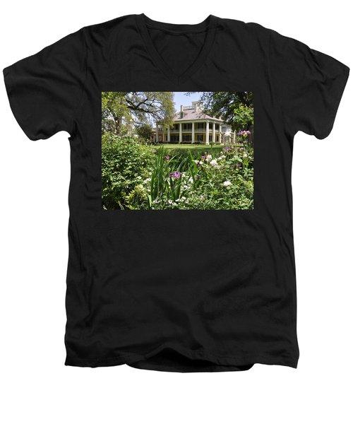 Louisiana April Men's V-Neck T-Shirt by Helen Haw