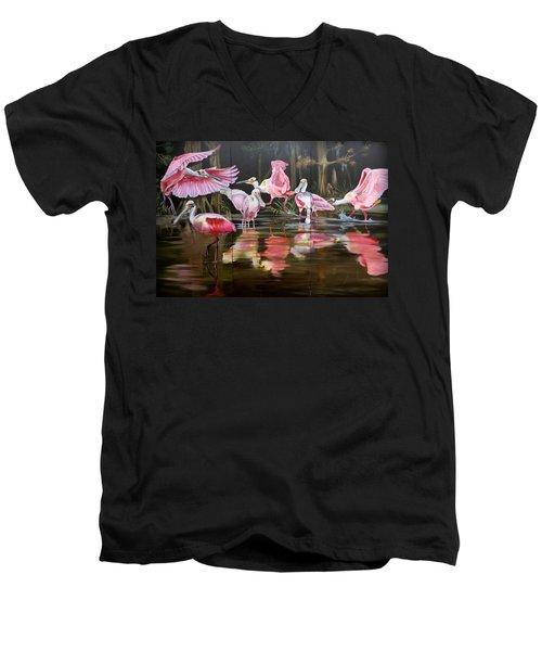 Louisiana Swamp Secrets Men's V-Neck T-Shirt