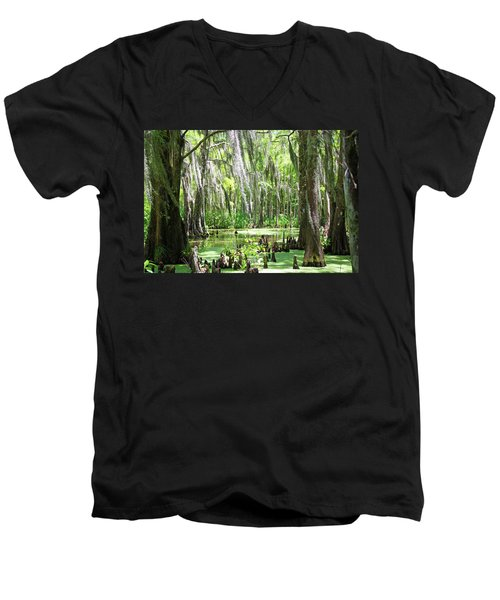 Louisiana Swamp Men's V-Neck T-Shirt