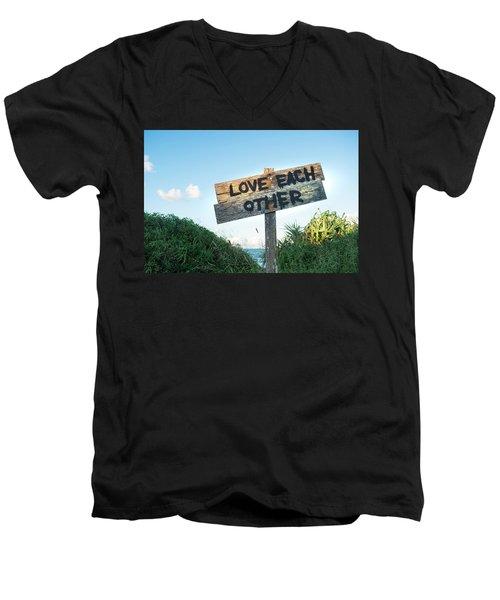 Love Each Other Men's V-Neck T-Shirt