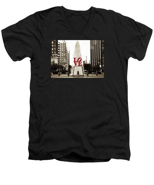 Love In Philadelphia Men's V-Neck T-Shirt