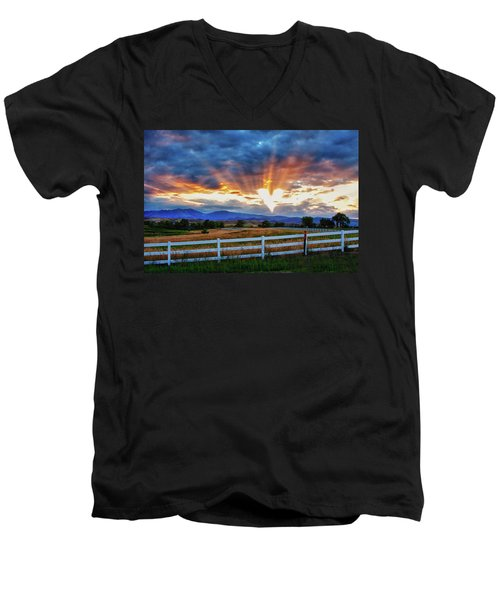 Men's V-Neck T-Shirt featuring the photograph Love Is In The Air by James BO Insogna