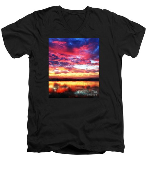Love Is Real Men's V-Neck T-Shirt by LeeAnn Kendall