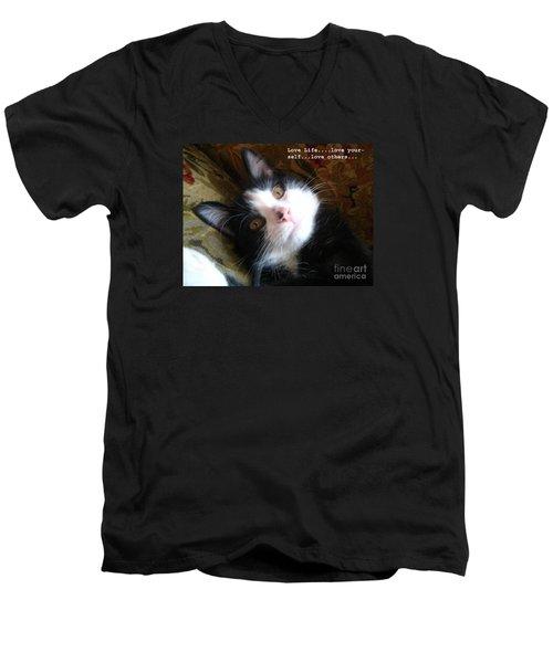 Love Life Men's V-Neck T-Shirt